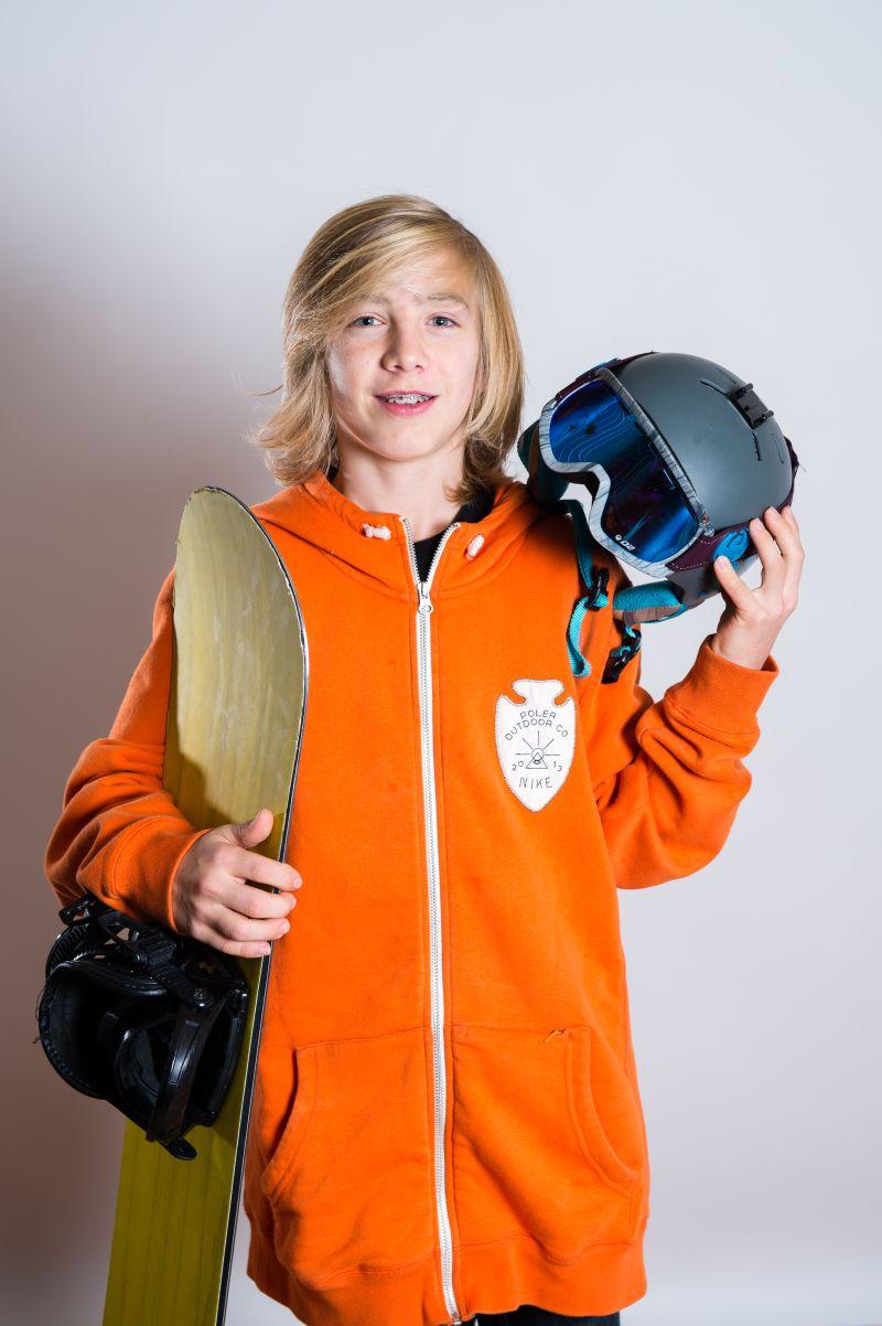 Patrick Hofmann bereit für das Snowboard freestyle 2015